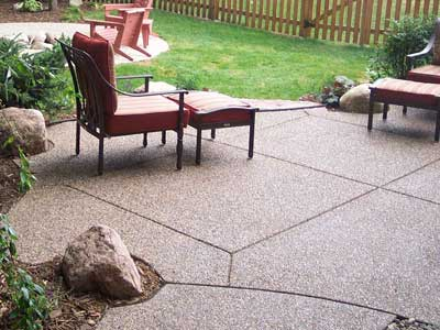 Aggregate Finished Concrete Patio - Chanhassen, MN