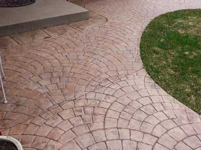 Decorative Color Stamped Concrete - Cobblestone pattern - in Edina, MN