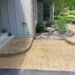 Color Stamped Concrete Patio, Steps, and Sidewalk - Chanhassen, MN