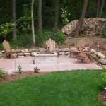 Color Stamped Concrete Patio with Firepit - Victoria, MN
