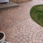 Color Stamped Concrete Sidewalk - Edina, MN