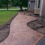 Color Stamped Concrete Sidewalk and Steps - Edina, MN