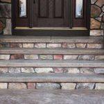 Color Stamped Concrete Sidewalk and Steps - Eden Prairie, MN