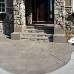 Color Stamped Concrete Sidewalk and Steps - Eden Prairie, MN