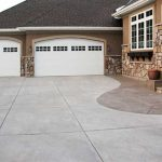 Concrete Driveway with Color Stamped Edge and Sidewalk - Eden Prairie, MN