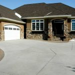 Concrete Driveway with Color Stamped Edge, Sidewalk, and Steps - Eden Prairie, MN
