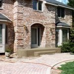 Curved Concrete Front Entry Steps - Edina, MN