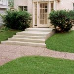 Curved Concrete Steps and Exposed Aggregate Sidewalk - St. Louis Park, MN