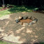 Exposed Aggregate Concrete Patio with Firepit - Victoria, MN