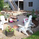 Exposed Aggregate Concrete Patio and Firepit - Edina, MN